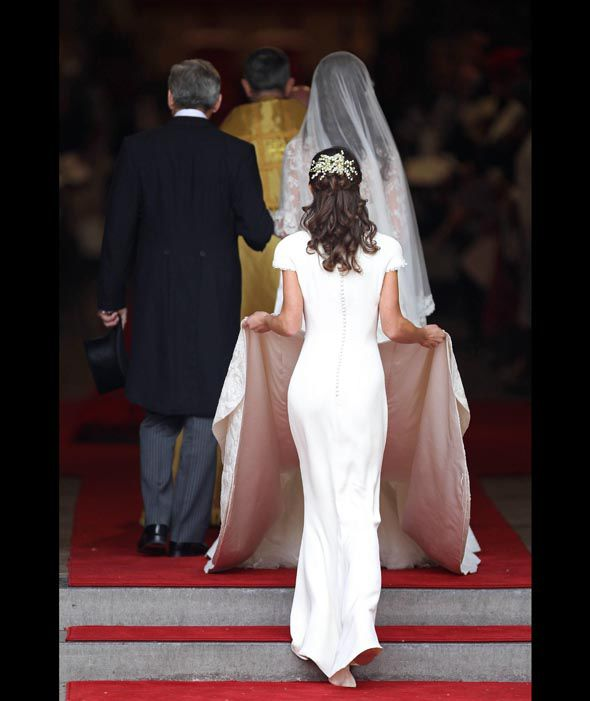 Pippa Became Famous For Standing Behind Her Sister Kate In Own White Dress Holding Kates Long Train
