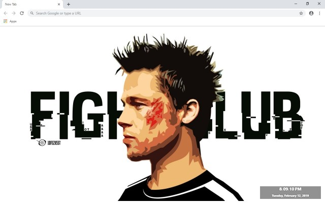 Brad Pitt Custom New Tab