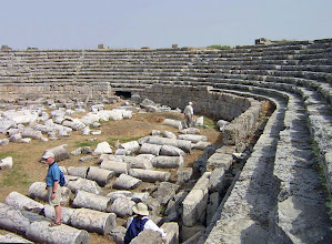 Photo: Perge Stadium, unique because of its U-shape