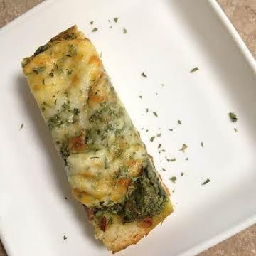 Toasted Spinach Artichoke Bread