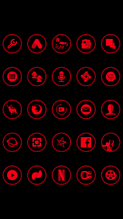 Red On Black Icons By Arjun Arora - náhled