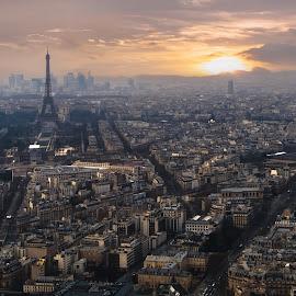 Paris Skyline by Jimmy Kohar - City,  Street & Park  Skylines