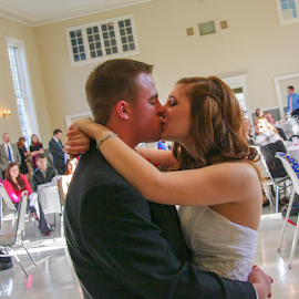 by Myra Brizendine Wilson - Wedding Bride & Groom ( bride, groom, couple, bride and groom, church, wedding,  )