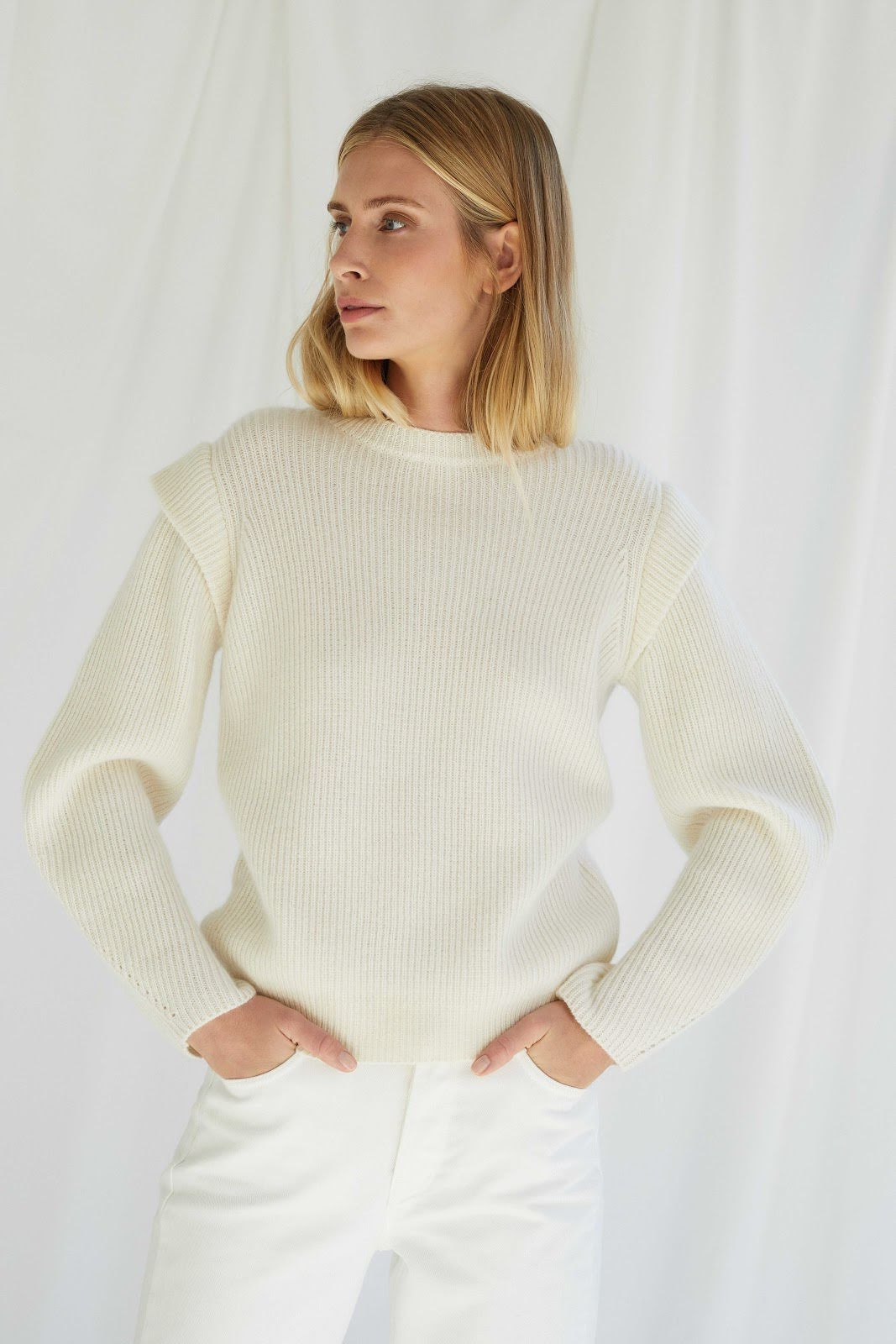 Trend Shoulder Rib Sweater