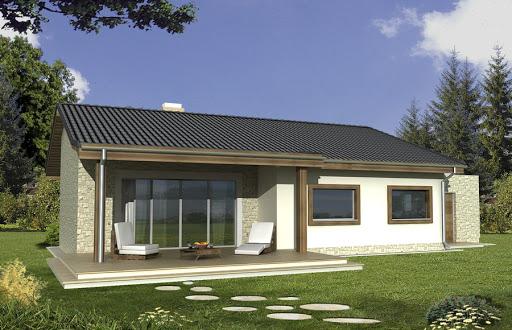 projekt Antek wersja B z pojedynczym garażem