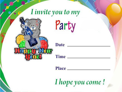 New Year Party Invitation Card