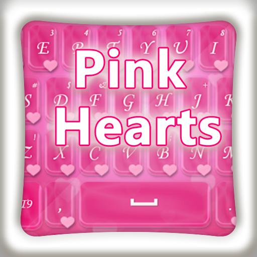 GOキーボードピンクのハート 個人化 App LOGO-APP開箱王