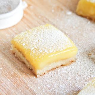 Meyer Lemon Bars with Sea Salt