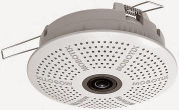 Photo: Mobotix c25 indoor in-ceiling IP camera, front.