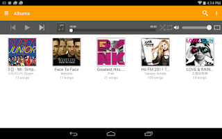 Screenshot of abMusic (music player)