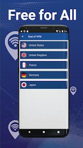 أفضل VPN مجاني – VPN سريع وآمن، God VPN 4