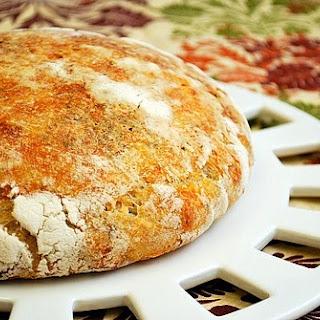 No Knead Parmesan & Herb Bread.