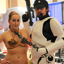 Star Wars Cosplay by Corey Williamson - People Couples ( cosplay, star wars, leia, entertainers, stormtrooper, couple, women, people, man )
