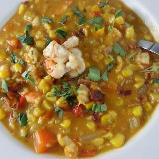 Corn & Shrimp Chowder.