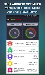 RedGreen – Cleaner, Booster & AppLocker- screenshot thumbnail
