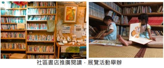 社區書店推廣閱讀,展覽活動舉辦
