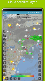 Weather Map with Hurricane tracks and Future radar- screenshot thumbnail