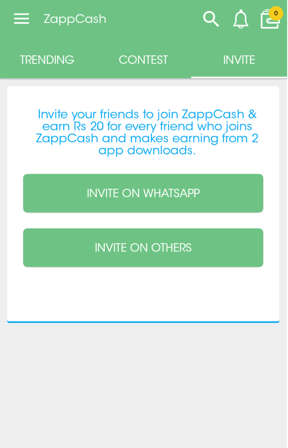Zapp Cash- screenshot