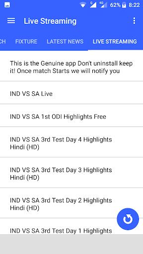Live Cricket Streaming 1.0 screenshots 3
