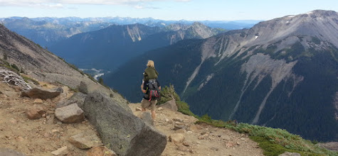 Photo: On the way down from Burroughs #2 we took the Sunrise Rim Trail