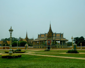 Photo: Our boat arrived in Phnom Penh a little before noon.  This is the beautiful park that greeted us.