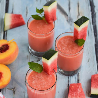 Watermelon Peach Smoothie.
