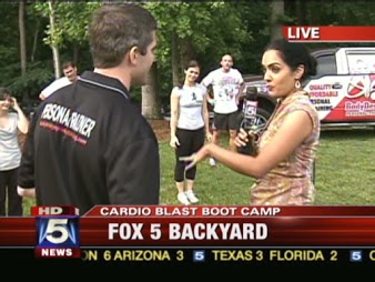 Instructor Corey Ritter speaking with Fox 5 News