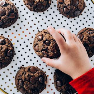 Jumbo Pumpkin Black Bean Chocolate Chip Cookies