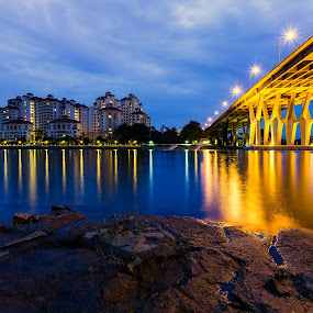 Sunrise at Tanjung Rhu by Martin Yon - City,  Street & Park  Neighborhoods ( tanjung, apartment, cityscape, sunrise, rhu, costa, morning, singapore, city )