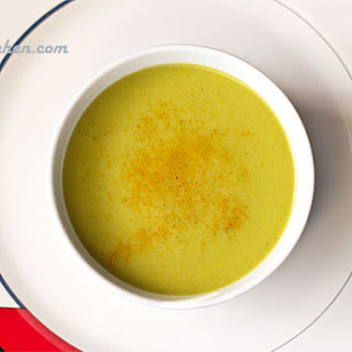 Cold Curried Green Vegetable Soup.