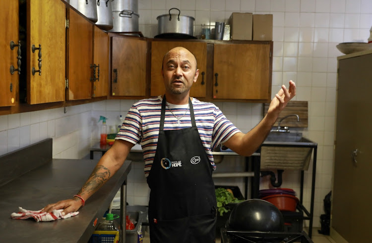 Chef Rohin Singh in his new kitchen at the Fontainbleau Community Church in Randburg.