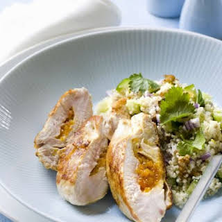 Apricot Stuffed Chicken Breast and Couscous.