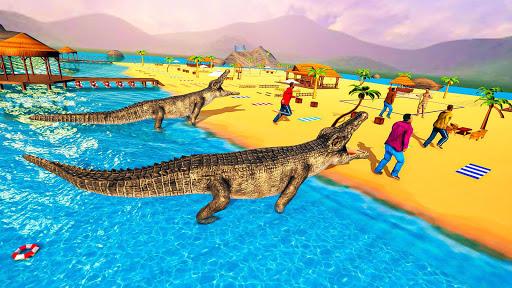 Télécharger gratuit Hungry Crocodile Attack Simulator: Crocodile Games APK MOD 1