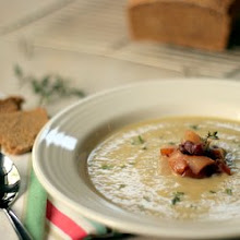 Photo: Cauliflower Soup with Gorgonzola and Pear Relish