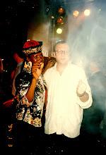 Photo: Throwing some dancefloor shapes with Grace Jones @ Felix, Peninsula Hotel 1997.