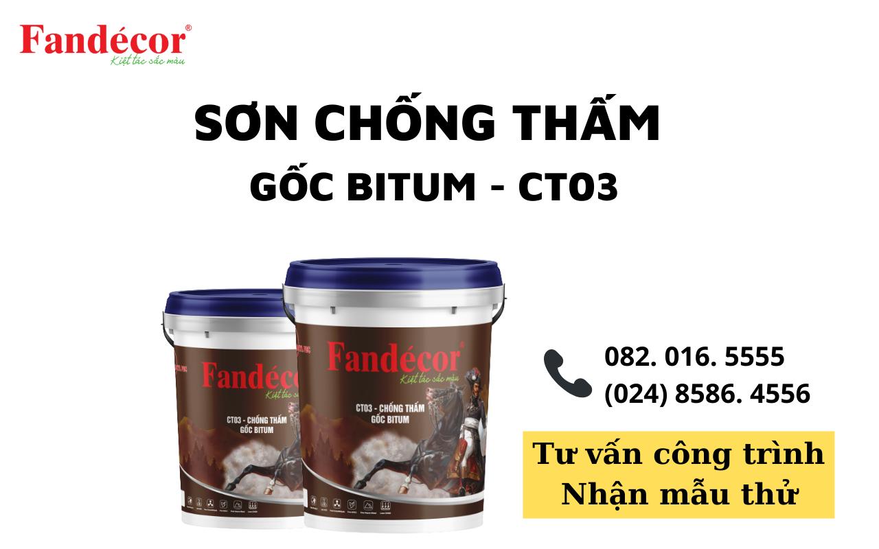 Sơn chống thấm Gốc Bitum Fandecor