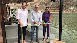 Inauguración del Cable Ski de Cuevas.