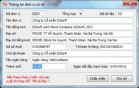 Chọn đơn vị cơ sở phần mềm kế toán 3TSoft