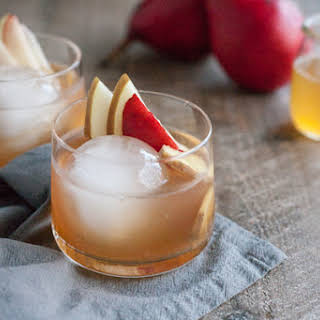 Bourbon and Honey Ginger Pear Cocktail.