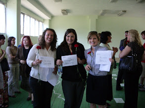Photo: Krista, Day and I with our site/school descriptions!