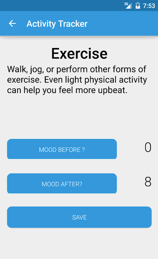 Activity Mood Tracker- screenshot
