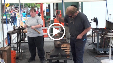 Video: Blacksmiths at work forging roughing gouge