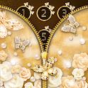 Gold Butterfly Diamond Zipper Lock icon