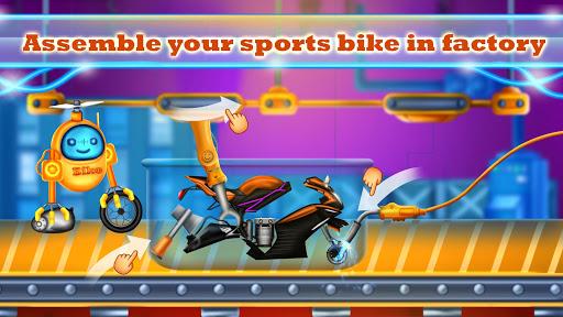 Sports Motorcycle Factory: Motorbike Builder Games  screenshots 8