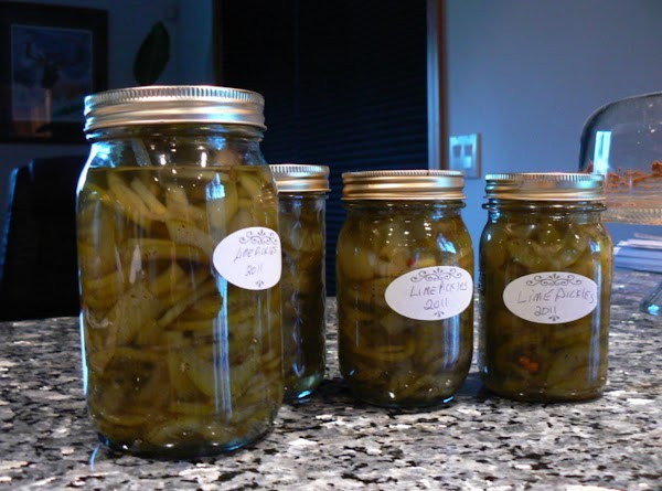 Lime Water Chicken House Sweet Pickles Recipe