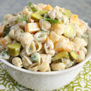 Dill Pickle-Ranch Pasta Salad.