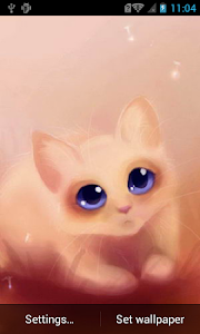 Cute kitty Live Wallpaper screenshot 0