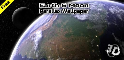 Earth & Moon in HD Gyro 3D Parallax Live Wallpaper on Windows PC