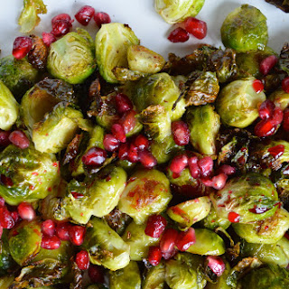 Roasted Pomegranate Brussels Sprouts