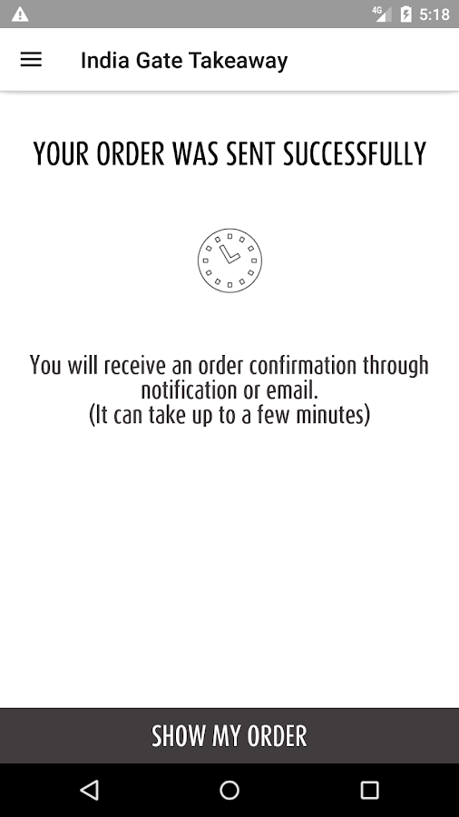India Gate Takeaway- screenshot